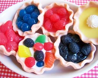 Mini Fruit Pie Soap - Dessert Soap, Food Soap, Soap Favor, Fruit Soap, Lemon Soap, Strawberry Soap, Blueberry Soap, Wedding Soap Favor