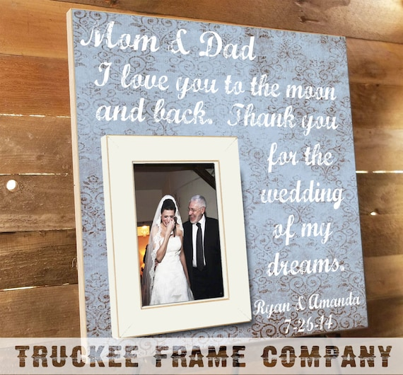 Parents Thank You Gift Wedding Frame Parents Gift Thank you