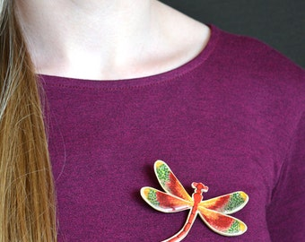 Big Dragonfly Brooch Silhouette