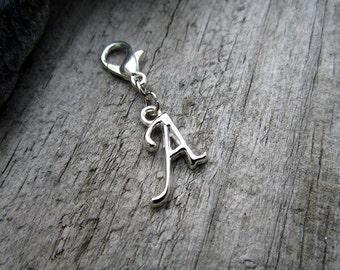 Silver A Initial Charm - Midori Charm - Fauxdori Traveler's Notebook Charm - Tibetan Silver