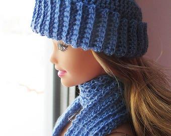 scarf, hat for barbie curvy