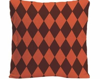 Orange Brown Harlekin  Pillow Cushion Throw Pillow Cover Pillow Beige Couch Bed Pillows Cushion Cover Decorative Throw Pillow
