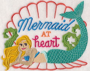 Mermaid at Heart Embroidered Flour Sack Hand/Dish Towel