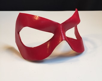 Red mask Red Arsenal Red Tornado Justice League Red Arrow Captain Marvel 52 Fem Leather mask Cosplay Halloween Mask Comicon Flash Masquerade