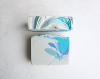 Sweet Water Soap Bar - Sweet Mountain Spring Water, Magnolia, Sugared Blooms - Natural Cold Process Soap with Avocado Oil and Shea Butter