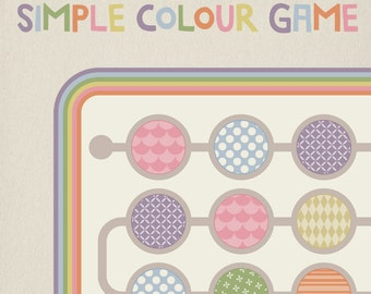 Color game for preschoolers, learning toys, educational game for kids, printable game,  learning colors. Instant download!