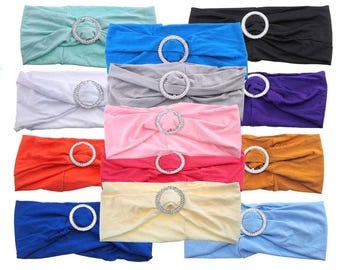 Spandex Chair Sash with Buckles, 13-Inch, 6-Piece