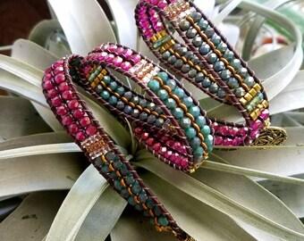 Still I Rise 3 Three Triple Wrap Beaded Bracelet