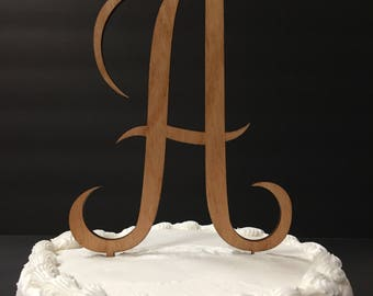 Initial Cake Topper