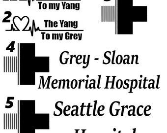 Grey's Anatomy Vinyl Decals