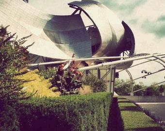 Chicago photograph, fine art, Millennium Park, Illinois picture, architecture, Chicago art - Jay Pritzker Pavilion
