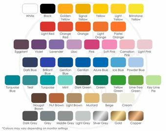 Colour Samples - Little Cooper Lane