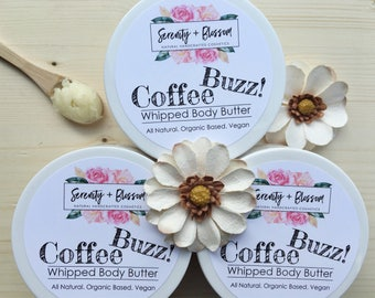 Organic Coffee Whipped Body Butter 4 oz