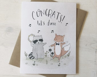 Congrats - Congratulations card, all occasion card, graduation card, new baby card, you did it, dance card, cute card, card for friend