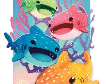 Whale Shark School Print 8.5x11