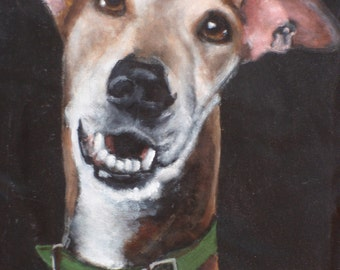 Tall Kooler Hand Painted Portrait of Dusty