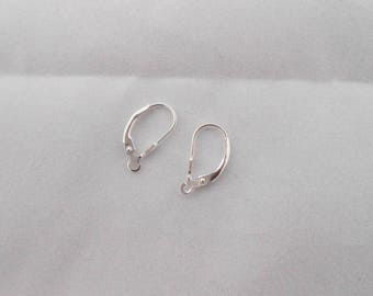 2 x 925 sterling silver ear wires. (9124851)