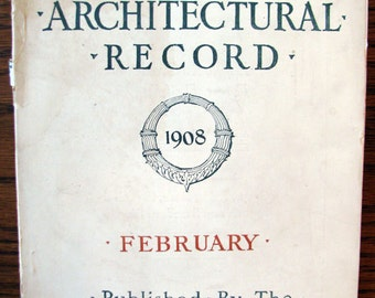 Historic Brooklyn, Vintage ARCHITECTURAL RECORD, 1908, Projected Brooklyn Central Library, Great Brooklyn Advertising