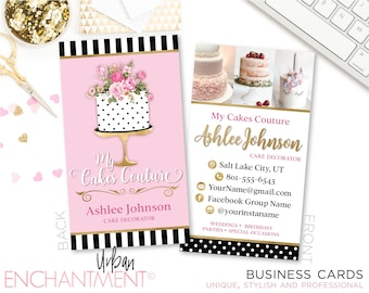 Complete redesign of item baker business cards cake couture cake designer cake decorator cake artist reheart Image collections