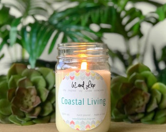 Coastal Living Soy Candle/Candle/Soy Candle/Summer Candle/Summer Scent