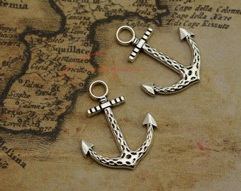 20PCS--29x23mm ,Anchor Charms, Antique Silver Anchor Charm pendant, DIY supplies,Jewelry Making