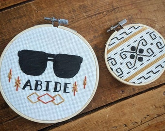 The Dude Abides Embroidery Hoop Set