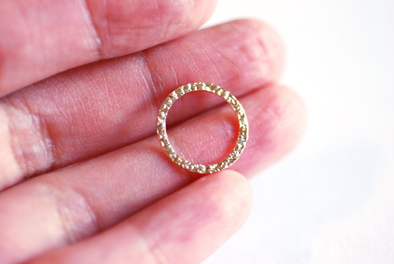 14k Gold Filled 15mm Textured Disc- 14k GF Textured Flat Round ...