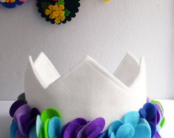 Felt Crown, Birthday Crown, Crown and tiaras, Party Crown, Girls Birthday Crown, Felt crown headband, crown for birthday, princess crown