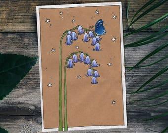 Bluebells Illustration Print - 5x7''