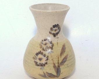 May Sale Event Vintage Hand Thrown Stoneware Bud Vase