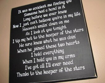 Keeper of the stars wooden sign