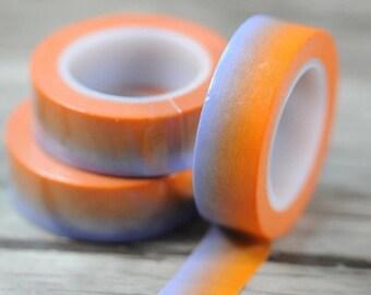 Orange Ombre Washi Tape, Decorative Washi Tape, Pretty Washi Tape, Fun Tape, DIY Projects, School Supplies