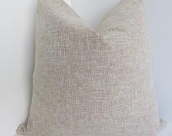 Linen Pillow Cover,Oatmeal Pillow Cover, Pillow, Linen Pillow Cover