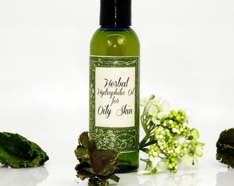 Herbal hydrophilic oil for oily skin, hydrophilic oil, cleanser for oily skin, anti-acne cleanser, organic cleanser