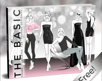 Free Printable - The Basic Bundle   Fashion Template, Fashion Illustration, Croquis, Fashion drawing