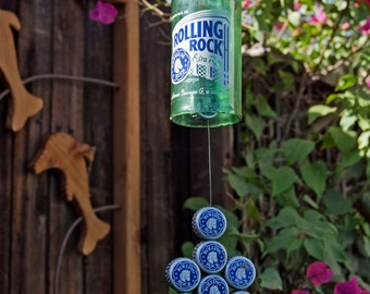 Rolling Rock Beer Bottle Wind Chime