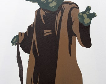 Spray Painted Yoda