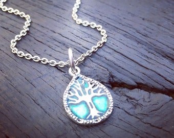 Turquoise Tree Of Life Charm Necklace | Tree Of Life Jewelry | Necklace For Mother | Necklace For Grandmother | Tree Of Life Gift For Her