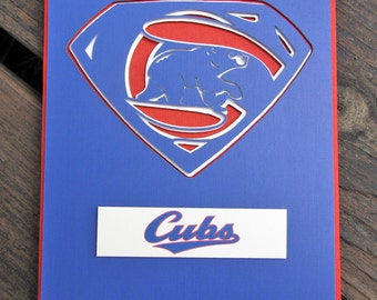 Chicago Cubs Card - Super Cubs Fan, Baseball Team Card