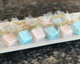 Baby/Bridal shower party favors (tiny soap favors) (mini soap favors) (mini soap) (soap samples)