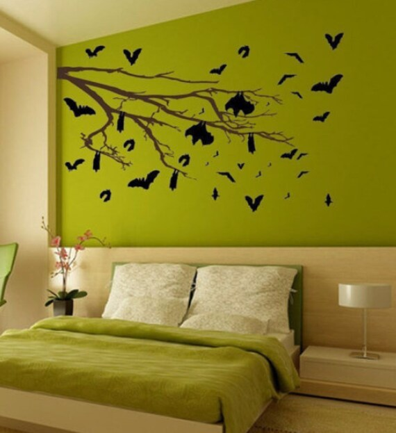The Bat's Tree Vinyl Wall Art-Choose any color