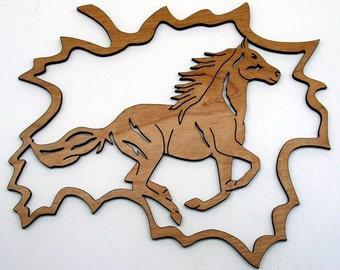 Fretwork Horse Maple Leaf 1 Ornament