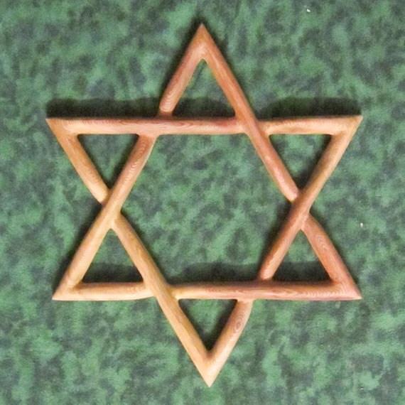 Basic Star Of David Wood Carved Judaica Magen David