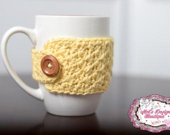 mug cozy - crochet cozy - coffee cozy - tea cozy - cup cozy - cozy - crochet - office gift - mug warmer - cup sleeve - teachers gift - mug