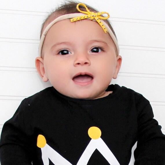 Baby Bow Headband, Yellow Headband, Infant Headband, Toddler Headband, Bow Headpiece, Headband with Bow, Baby Accessories, Mini Bow Headband