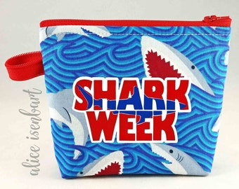 Shark Week Zippy - Feminine Hygiene Products Zippered Pouch