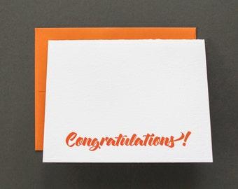 Congratulations Letterpress Greeting Card