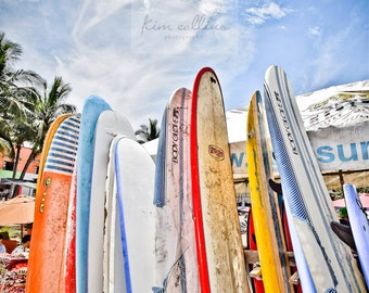 Surfboards,Mexico,Photography, Ocean, Beach House,Multiple Sizes Available-Fine Art Photography-Gift,Surf,Boys Room, Beach House