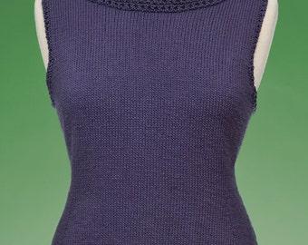 PDF Knitting Pattern Top-Down Shell #169