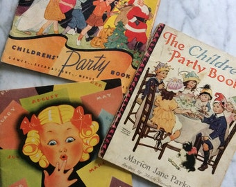 Set of 3 Books 1920 -30's Party & Play
